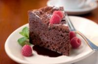 Spencer's for Steaks & Chops - Warmed Chocolate and Fudge 'Naughty' Cake