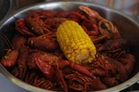 Crawfish plate from Crawfish and Noodles restaurant in Houston