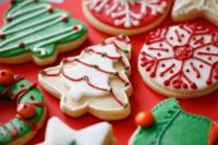 Beautifully decorated cookies at the Christmas Cookie Workshop