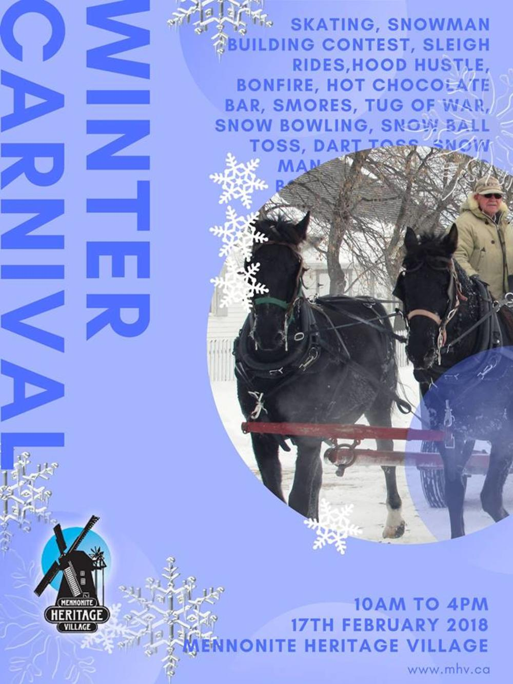 Winter Carnival in Mennonite Heritage Village, Steinbach