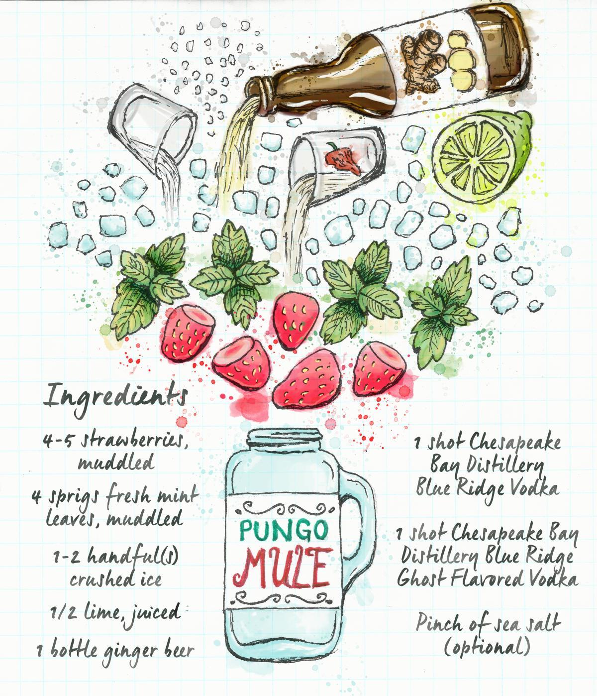 Pungo Strawberry Moscow Mule Recipe