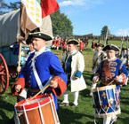 Colonial Marching Drummers at Fort Ligonier Days