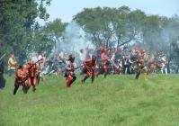 The French army with their native allies will launch attack after attack on Fort Ontario in Oswego on Saturday, June 30, at 2 p.m. Battle recreations will also take place at 11 a.m. Sunday, July 1. The event commemorates an attack on Fort Ontario 253 years ago. (Photos courtesy of Fort Ontario State Historic Site.)