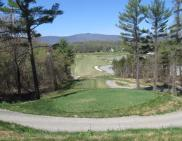 A majestic view of the 485-yard, par-5 third hole at the Lazy Swan Golf and Country Club Village in Saugerties.