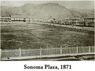 Sonoma Plaza 1871 bw