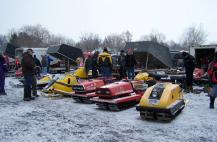 HUNDREDS OF VINTAGE SLEDS will be displayed at the Great Eastern Whiteout Feb. 11 through 13 at the Fulton War Memorial in Oswego County. (Photo by Oswego County Tourism Office.)