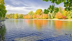 Children's Lake Fall Foliage-700