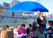 Children enjoying summer activities offered at the H. Lee White Marine Museum last summer.