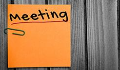 Meeting post-it note