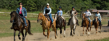 spring-group horseback riding