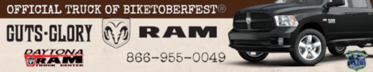 RAM Truck Banner Ad Biketoberfest 2016