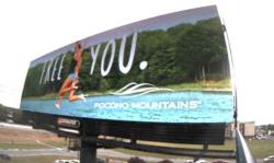 2017 Summer Marketing Campaign - Digital Billboard - Pocono Mountains Visitors Bureau