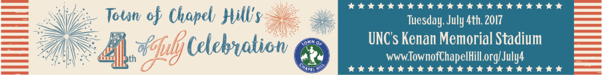 Banner ad for July 4 Chapel Hill