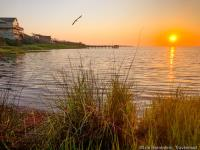 Sunset from The Inn at Pamlico Sound, Hatteras, Outer Banks, North Carolina