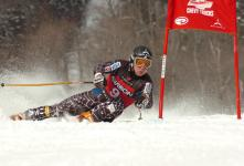 Lake Placid native Andrew Weibrecht competing at Whiteface during the 2008 NorAm Championships.