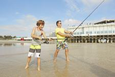 Fishing father and son in Daytona