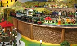 The miniature train exhibit is a big draw for visitors of all ages.