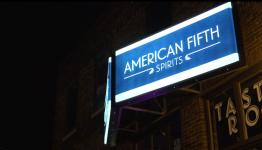 American Fifth Spirits Sign