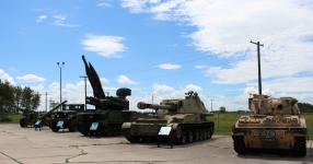 Equipment on display at Royal Canadian Artillery Museum on CFB Shilo, Manitoba