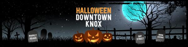 Downtown Knox Halloween Banner
