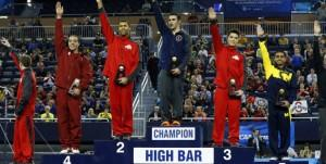 Gymnastics winner's podium