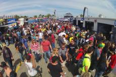 Inside the Paddock at Daytona International Speedway