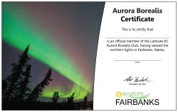 Ask Your Accommodationu0027s Front Desk If Aurora Certificate