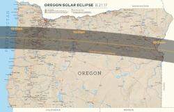 Oregon Map of Eclipse Totality by Travel Oregon