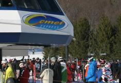 Photo: Taken Saturday, December 13, 2009, Bristol Mountain; Comet Express Lift. Photo Courtesy of Drew Broderick