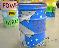 Photo of painted barrels