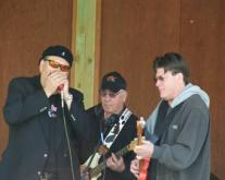 Corn Bred performing at the 2009 Native Circle event (from left) Curtis Waterman, Jerome Lazore, Morris Tarbell