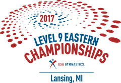 2017 Junior Olympic Level 9 Eastern National Gymnastics Championships logo