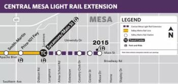 Light Rail Map - Downtown Extension