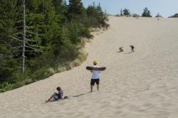 Sandboarding at the Oregon Dunes