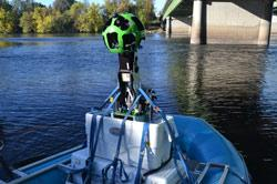 Google Trekker on Boat