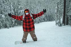 Snowboarding Willamette Pass by Cari Garrigus