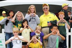 Oregon Football Fans by Essig Field