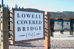 Lowell Bridge Sign