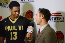 Post-Game Interview at Slam Dunk 2015