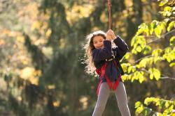 Zip Line Fun at Pocono TreeVentures in the Pocono Mountains