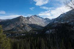 Snowy Longs Peak