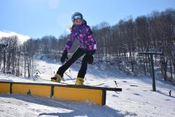 Snowboarding Stunts at Hidden Valley Terrain Park in Laurel Highlands