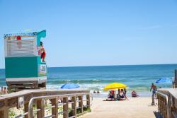 Carolina Beach lifeguard stand and beach access
