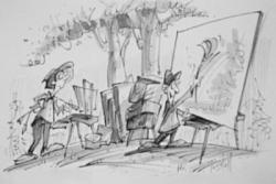 Cartooning Beginning Drawing class