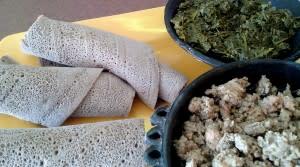 enjera meal 2