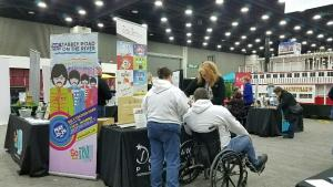 Visitors stop to chat at the Home, Garden, and Remodeling Show