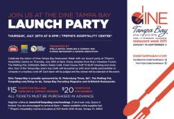 Dine Tampa Bay Launch Party