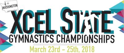 Xcel State Gymnastics Championships Banner