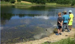 Fishing at Gabis Arboretum