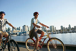 Cycling on the Seawall